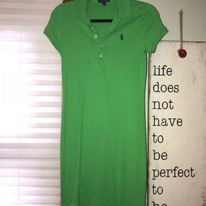 Green Ralph Lauren Short Sleeve Polo Dress